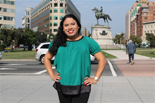 This handout photo provided by the National Center for Transgender Equality (NCTE) shows Raffi Freedman-Gurspan in Washington. The White House announced Freedman-Gurspan's appointment Tuesday as an outreach and recruitment director for presidential personnel in the Office of Personnel. Transgender advocates say she is the first openly transgender official to serve in the White House. (National Center for Transgender Equality via AP)