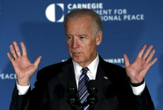 U.S. Vice President Joe Biden delivers remarks at the American Job Creation and Infrastructure Forum in Washington, October 8, 2015. REUTERS/Yuri Gripas