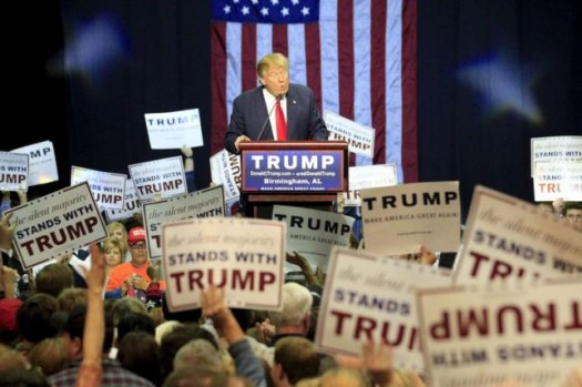 U.S. Republican presidential candidate Donald Trump speaks at a rally at the Birmingham Jefferson Civic Complex in Birmingham, Alabama November 21, 2015. REUTERS/Marvin Gentry