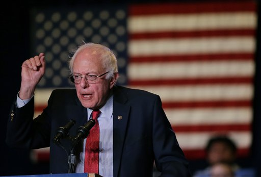 Democratic presidential candidate, Sen. Bernie Sanders, I-Vt., he speaks during a rally Friday, Feb. 19, 2016, in Reno, Nev. (AP Photo/Marcio Jose Sanchez)