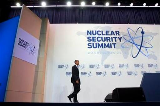 President Barack Obama arrives for a news conference at the conclusion of the Nuclear Security Summit in Washington, Friday, April 1, 2016. (AP Photo/Jacquelyn Martin)
