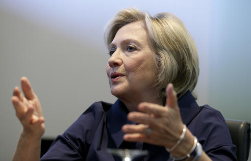 FILE - In this Sept. 7, 2015, file photo, Democratic presidential candidate Hillary Clinton speaks during an interview with The Associated Press in Cedar Rapids, Iowa. Over the months, Clinton misstated key facts about her use of private email and her own server for her work as secretary of state, the department's inspector general reported this week. (AP Photo/Charlie Neibergall, File)