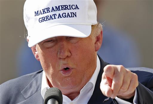 Republican presidential candidate Donald Trump speaks at a town hall-style campaign event. (AP Photo/Robert F. Bukaty)