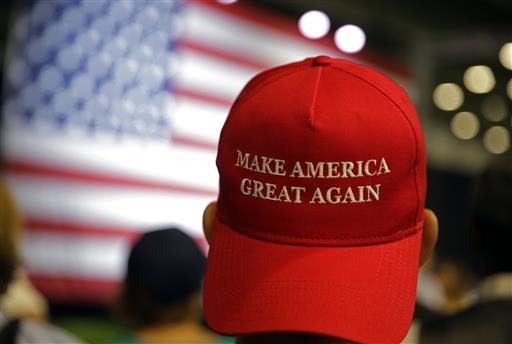 Supporters of Republican presidential candidate Donald Trump. Trump is wildly unpopular among young adults, in particular young people of color, and nearly two-thirds of Americans between the ages of 18 and 30 believe the presumptive Republican nominee is racist.  (AP Photo/Michael Conroy)