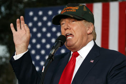 Republican presidential candidate Donald Trump speaks during a campaign rally, Tuesday, Oct. 25, 2016, in Tallahassee, Fla. (AP Photo/Evan Vucci)