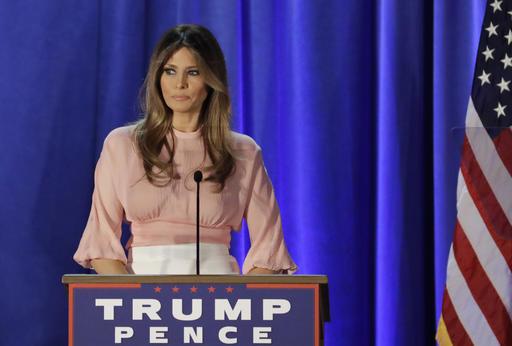 Melania Trump, wife of Republican presidential candidate Donald Trump, speaks at the Main Line Sports Center in Berwyn, Pa., Thursday, Nov. 3, 2016. (AP Photo/Patrick Semansky)