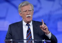 Former US Ambassador to the UN John Bolton speaks at the Conservative Political Action Conference (CPAC) in February; the vocal advocate of the Iraq war has also supported preemptive strikes against North Korea and war with Iran.