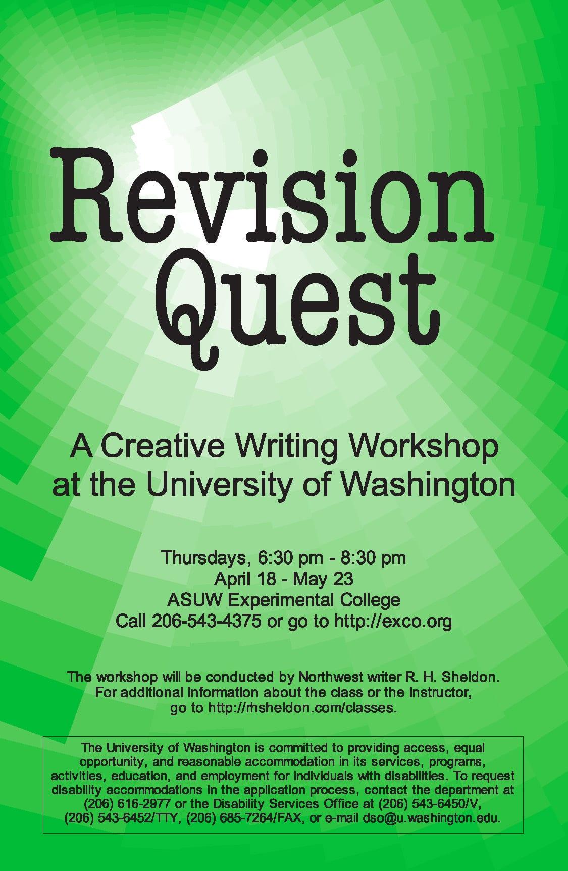 university of washington creative writing