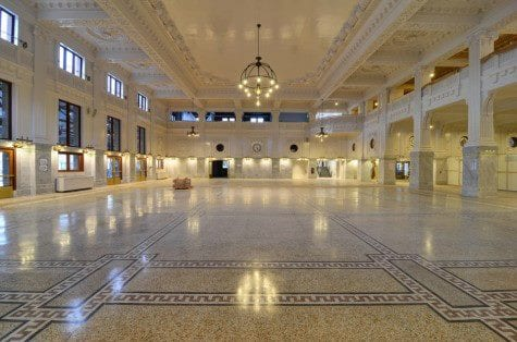 Amtrak riders rejoice. The refurbished King Street Station waiting area, part of a $55 million overhaul, is unveiled Wednesday at 11 AM. (Image: Downtown Seattle Association)