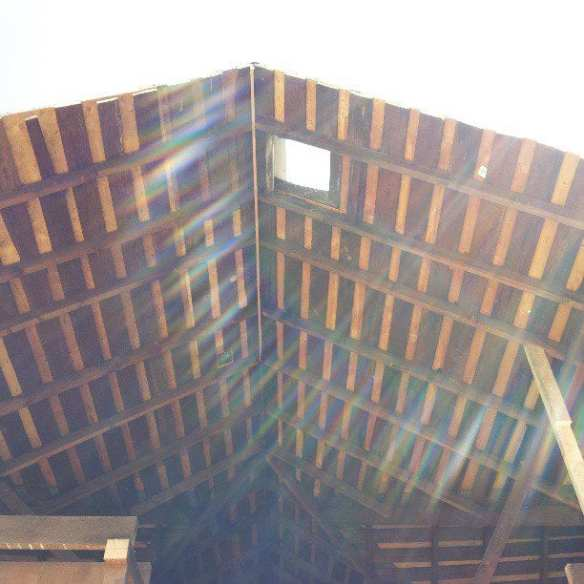 The old roof getting some work on a rare sunny April day (Image: Ada's)