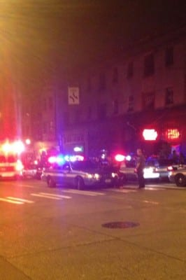 "@SvetlanaWasHere reported:  ""11 police vehicles at the comet. appears to have been a fight. Pretty excessive for a fight"""