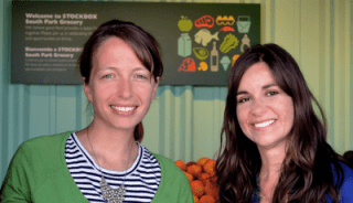 CEO Carrie Ferrence with COO Jacqueline Gjurgevich (Courtesy Stockbox Grocers)