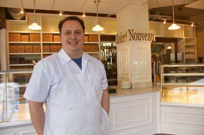 Chef Leaman beams inside the new Bakery Nouveau