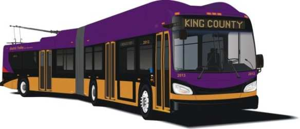 Metro's 60-foot articulated New Flyer coach will be based on the Xcelsior model. (Image: King County Metro)