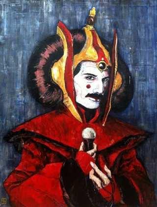 Freddie Mercury as Queen Amidala... (Chuck Knigge w/ permission to CHS)