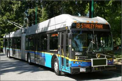 A New Flyer trolley bus in Vancouver (Image: New Flyer)