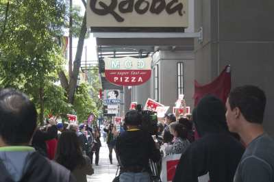 Protesters targeting the fast food industry targeted the Joule's tenant this spring (Image: CHS)