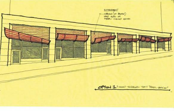"""One of Henry's studies for a restaurant storefront in Capitol Hill"" (Image: Atelier Drome Architecture via Facebook)"