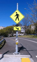 New pedestrian warning lights included (Image: WSDOT)