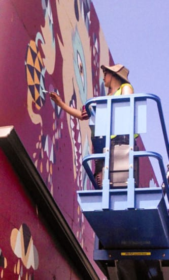PalletWall_Tessa_Hulls_painting_mural_POW_7-12-13 (1)