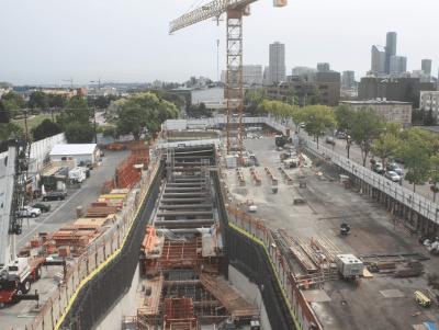 View the latest images from the Sound Transit construction cam