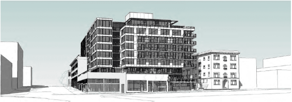 Final design unveiled for eight-story Melrose and Pine building