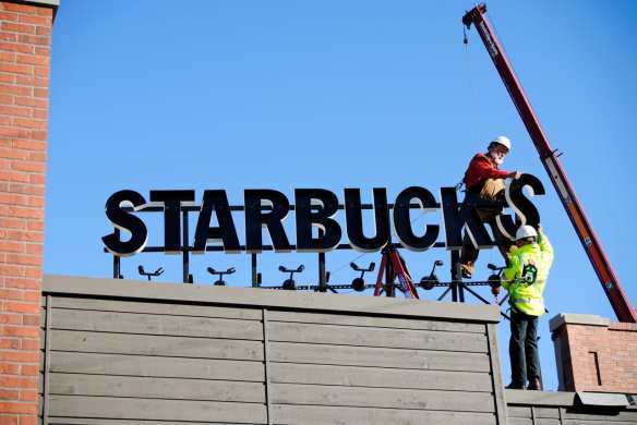 """Following projects like the 2010 overhaul of the E Olive Way """"Gaybucks,"""" Starbucks is building on Capitol Hill again (Image: CHS)"""