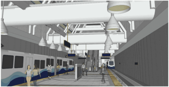 An artist's rendition of Capitol Hill Station's  subterranean platform (Image: Sound Transit)