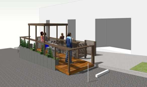 The concept design for the Montana parklet (Image: CHS)