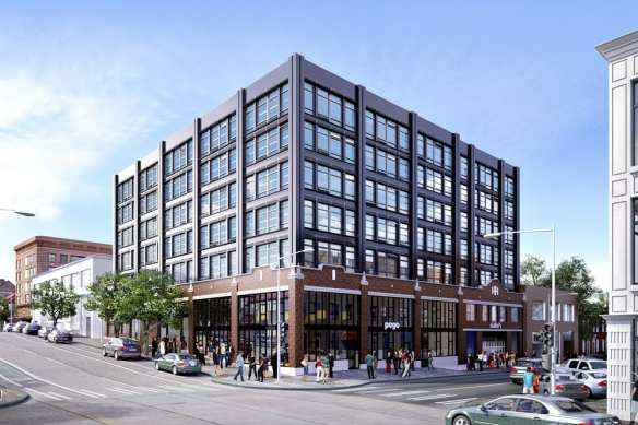 The Sunset Electric building will soon rise in completed form across 11th Ave