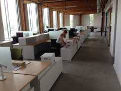 Moving into the temporary space on the 4th floor (Images: Hammer & Hand)