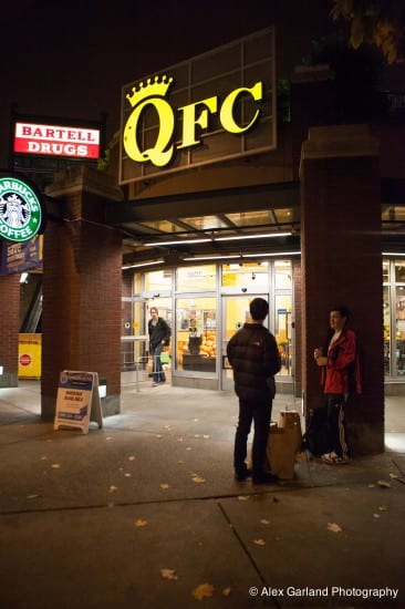 It was a quiet Monday night at QFC after union reps announced a tentative agreement in labor talks.