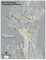 The City of Seattle's map of current microhousing projects in the city