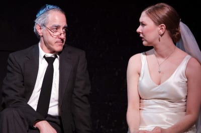 Mark Waldstein as Abe and Sydney Andrews as Rachel in Undo (Image: Ian Johnston, courtesy Annex)