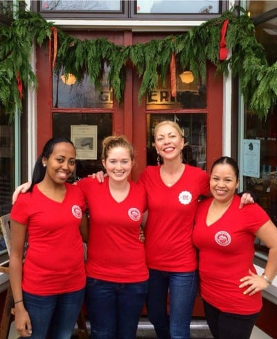 Burke, second from right, and her Volunteer Park crew (Image: VPC)