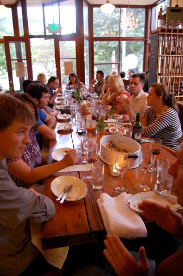 The communal table at Volunteer Park Cafe (Image: VPC)