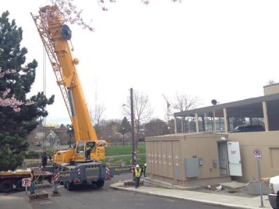 This streetcar power substation was recently installed just off Nagle near Cal Anderson -- not everybody is a fan (Image: Seattle Streetcar via Twitter)