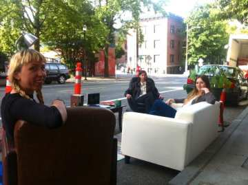 We suggest Meinert and Lajeunesse talk to the creators of this 2013 Park(ing) Day installation about the 10th/Pike parklet design (Image: CHS)