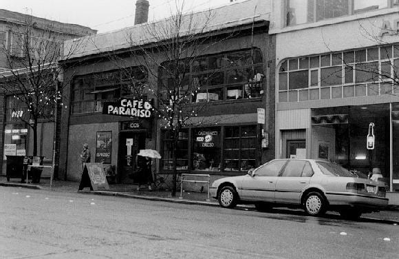 Cafe Paradiso, where Vita was born (Image courtesy The Daily Journal of Commerce)