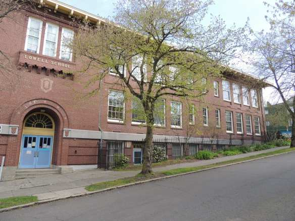 That place on E Mercer where all the yelling kids go in and out of? It's called Lowell Elementary (Image: CHS)