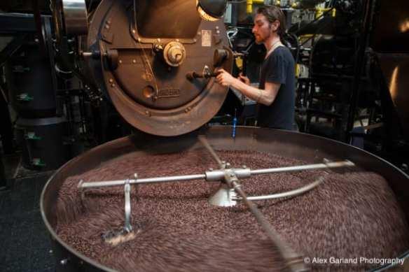 The 60 kilogram beast of a roaster inside E Pike's Caffe Vita (Images: CHS)