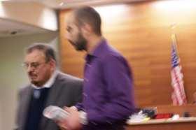 Musmari at a January sentencing hearing for a 2013 assault (Image: CHS)