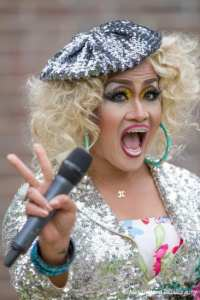 2014 Seattle Pride Grand Marshal Aleksa Manila hosted the day's events...