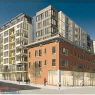 "Melrose and Pine, Melrose at Pine — ""an eight-story building including 205 units of housing, 16,000 square feet of restaurant and retail space and underground parking for 180 vehicles"""