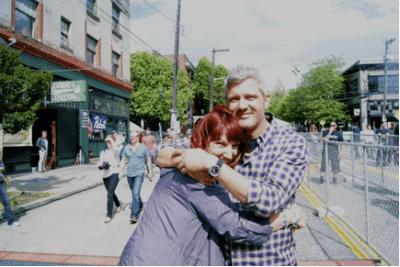 Lajeunesse gets a hug (Image: CHS)