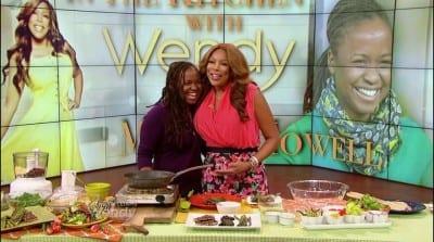 Howell -- celebrity vegan chef -- visits Wendy Williams (Image courtesy Plum)