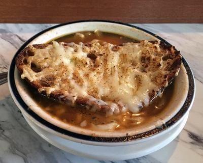 French onion soup at Cafe Barjot (Image: Cafe Barjot)