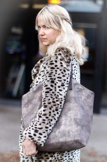 Abigail Vehorn Platinum hair braid leopard print coat seattle street style fashion it's my darlin'_2348