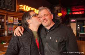 Dave Meinert and Jason Lajeunesse celebrated the reopening of the Comet (Images: CHS)