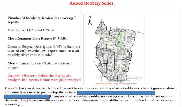 From the SPD's December 3rd SeaStat crime statistics briefing